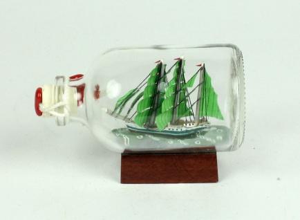 Alexander von Humboldt Mini Buddelschiff 50 ml ca. 7, 2 x 4, 5 cm Flaschenschiff - Vorschau 2