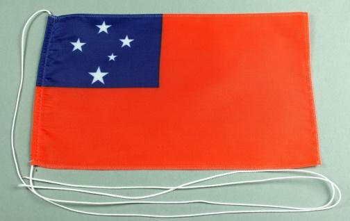 Tischflagge West Samoa 25x15 cm optional mit Holz- oder Chromständer Tischfah...