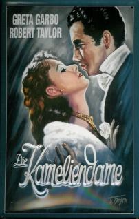 Blechschild Kameliendame Greta Garbo Filmplakat Werbeschild Schild Nostalgies...