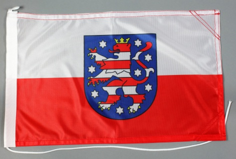 Bootsflagge Thüringen 30x45 cm Motorradflagge Bootsfahne