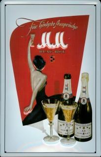 Blechschild M und M Sekt für höchste Ansprüche M&M Champagner Schild retro We...