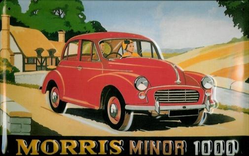 Blechschild Morris Minor 1000 Auto Nostalgieschild Schild