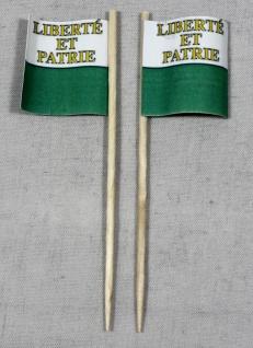 Party-Picker Flagge Vaud Kanton Schweiz Papierfähnchen in Spitzenqualität 50 ...