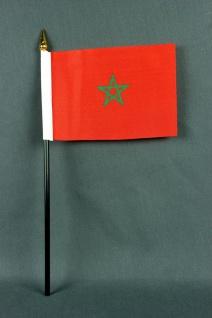 Kleine Tischflagge Marokko 10x15 cm optional mit Tischfähnchenständer