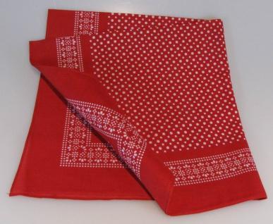 Vierecktuch kleine Punkte 54x54 cm rot Halstuch