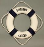 Rettungsring Deko blau 35cm Willkommen an Bord