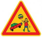 Aluminium Parkplatzschild Spielstraße Kinder glatte Oberfläche 600 mm 2 mm Al...