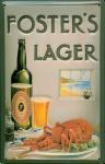 Blechschild Fosters Lager Bier Beer Schild Hummer Lobster retro Werbeschild A...
