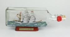 Gorch Fock eckige Ginflasche 0, 7 Liter Buddelschiff Flaschenschiff