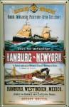 Blechschild Hamburg New York Postdampfer Post Dampfsegler Dampfer Schiff Schi...