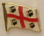 Pin Anstecker Flagge Fahne Sardinien neu Italien