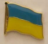 Pin Anstecker Flagge Fahne Ukraine Nationalflagge