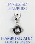Hamburg Anhänger Rettungsring blau Hamburg Ahoi Souvenir Accessoire