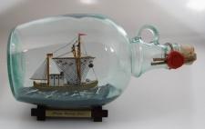 Krabbenkutter 1, 5 Liter Buddelschiff Flaschenschiff