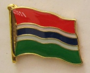 Gambia Pin Anstecker Flagge Fahne Nationalflagge