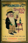 Blechschild Younger Scotch Ale Beer Bier Reklame Schild retro Werbeschild