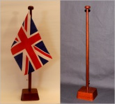 Tischflaggenständer 1-fach Holz Mahagoni - farben Profiqualität für 15x25cm T...