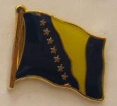 Pin Anstecker Flagge Fahne Bosnien Herzegowina Nationalflagge Flaggenpin Butt...
