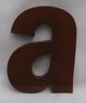 "Hausnummer Buchstabe "" a"" aus lackiertem Natur - Holz, ca. 12 cm"
