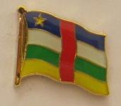 Zentralafrikanische Republik Pin Anstecker Flagge Fahne Nationalflagge