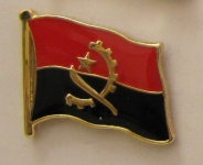 Angola Pin Anstecker Flagge Fahne Nationalflagge
