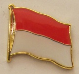 Indonesien Pin Anstecker Flagge Fahne Nationalflagge