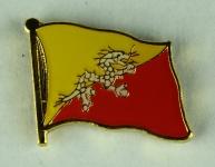 Bhutan Pin Anstecker Flagge Fahne Nationalflagge