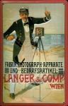 Blechschild Nostalgieschild Langer Comp. Wien Kamera 1