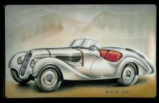 Blechschild BMW 1937 Oldtimer Nostalgieschild retro Schild Autowerbung