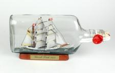 Gorch Fock Buddelschiff 375 ml Flachmann ca. 21x9 cm Flaschenschiff