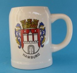 Bierkrug Hamburg Wappen Keramikkrug