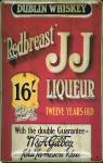 Blechschild Redbreast JJ Whiskey Dublin 16 Liqueur Schild retro Werbung