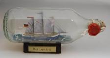 Thor Heyerdahl runde Flasche 0, 3 Liter Buddelschiff Flaschenschiff