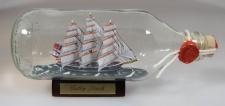Cutty Sark runde Flasche 0, 3 Liter Buddelschiff Flaschenschiff