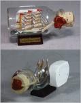 Buddelschiff Gorch Fock 5x2 cm Kühlschrankmagnet mit 10x3 mm Neodym Magnet So...
