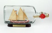 Shalom Schalom Bodensee Segler Flachmann Buddelschiff 0, 375 Liter ca. 21x9 cm...