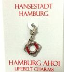 Hamburg Anhänger Rettungsring rot Hamburg Ahoi Souvenir Accessoire