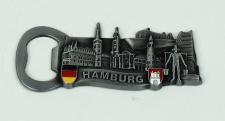 Magnet Hamburg Wahrzeichen Flaschenöffner silber Souvenir Hummel Rathaus Schi...