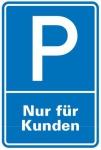 Aluminium Schild Parkplatz P Kunden 600x400 mm Alu 0, 6 mm geprägt für Wandmon...