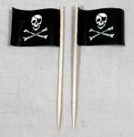 Party-Picker Flagge Pirat (1) Totenkopf Papierfähnchen in Spitzenqualität 50 ...