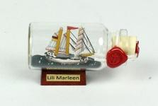 Lili Marleen Mini Buddelschiff 10 ml ca. 5 x 2 cm Flaschenschiff