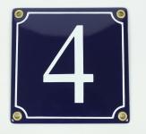 1-stelliges Wetterfestes Emaille Hausnummernschild mit Wunschzahl Wunschtext ...