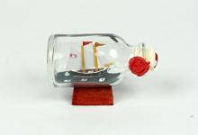 2-Mastschoner Jim Mini Buddelschiff 20 ml 5, 3x3 cm Flaschenschiff