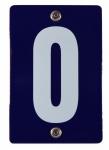 Hausnummernschild 0 Null O Emaille Hausnummer Schild Haus Nummer Zahl Ziffer ...