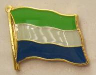Sierra Leone Pin Anstecker Flagge Fahne Nationalflagge