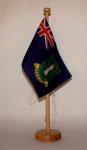 Tischflagge Virgin Islands USA Jungferninseln 25x15 cm optional mit Holz- ode...