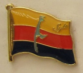Pin Anstecker Flagge Fahne Sylt Nordsee Inselflagge