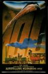 Blechschild Deutsche Eisenbahnen Ausstellung Nürnberg 1935 Schild Nostalgiesc...