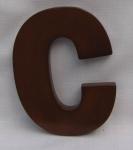 "Hausnummer Buchstabe "" c"" aus lackiertem Massivholz, ca. 12 cm"