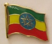 Aethiopien Pin Anstecker Flagge Fahne Nationalflagge
